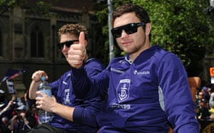 AFL Parade: Hayden Ballantyne gives the thumbs up