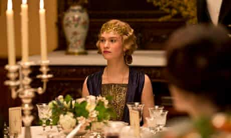 Downton Abbey: Lily James as Lady Rose.