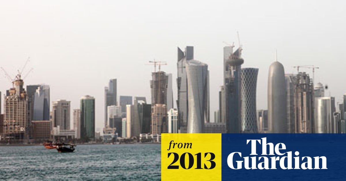 Indian labourers working on construction sites in Qatar