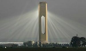 Solar power tower Seville Spain