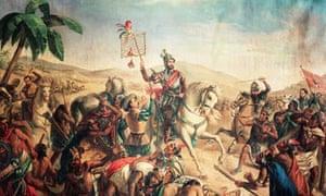 Cortez fights the Aztecs 1520