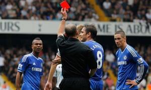 Fernando Torres gets sent off