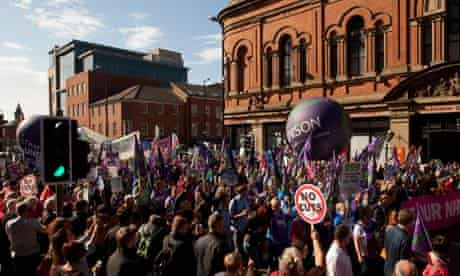 Manchester austerity march