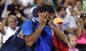 Roger Federer loses to Tommy Robredo, US Open 2013
