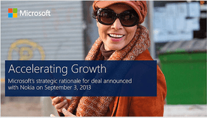 Microsoft presentation on Nokia deal