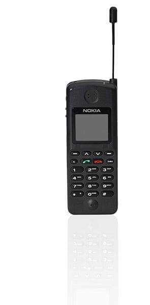 Nokia timeline: c 1995: Nokia NHK-1XA with aerial