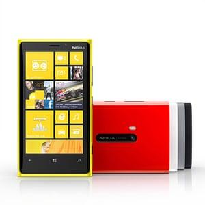 2012: Nokia Windows smartphones - the Lumia 920 runs on the latest Windows Phone operating software
