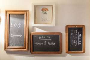 Homes - Oliver Jeffers: framed blackboards on cream wall