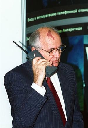 Nokia timeline: 1989: Mikhail Gorbachev makes a call on a Nokia Mobira Cityman mobile phone