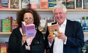 Sophie Hannah, who will write the new Hercule Poirot, and Mathew Prichard, Agatha Christie grandson