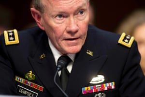 General Martin E. Dempsey, chairman of the Joint Chiefs of Staff, presents the administration's case for U.S. military action against Syria to a Senate Foreign Relations Committee hearing in Washington September 3, 2013.