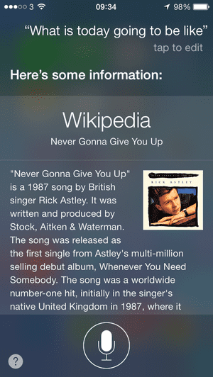 apples siri attempts to rickroll the world with rick