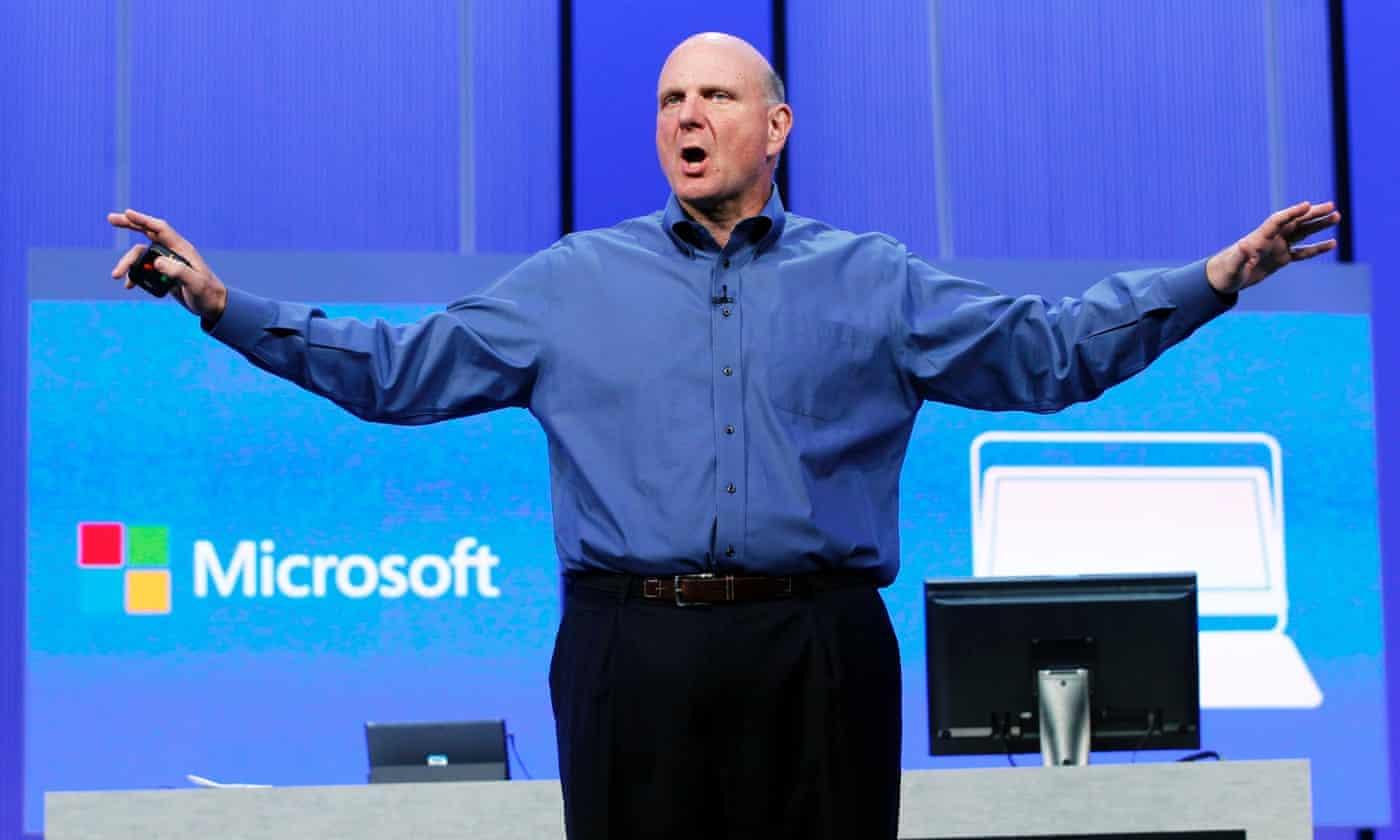 Microsoft's Steve Ballmer gives final emotional speech to staff