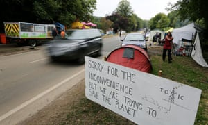 Activists start to leave their camp outside the Cuadrilla exploratory drilling site in Balcombe