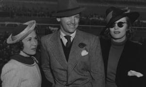 Douglas Fairbanks Junior and Marlene Dietrich, at the Santa Anita racecourse