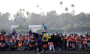 Zenyatta wins the Breeders' Cup Classic horse race at Santa Anita Park in Los Angeles, California, 2009
