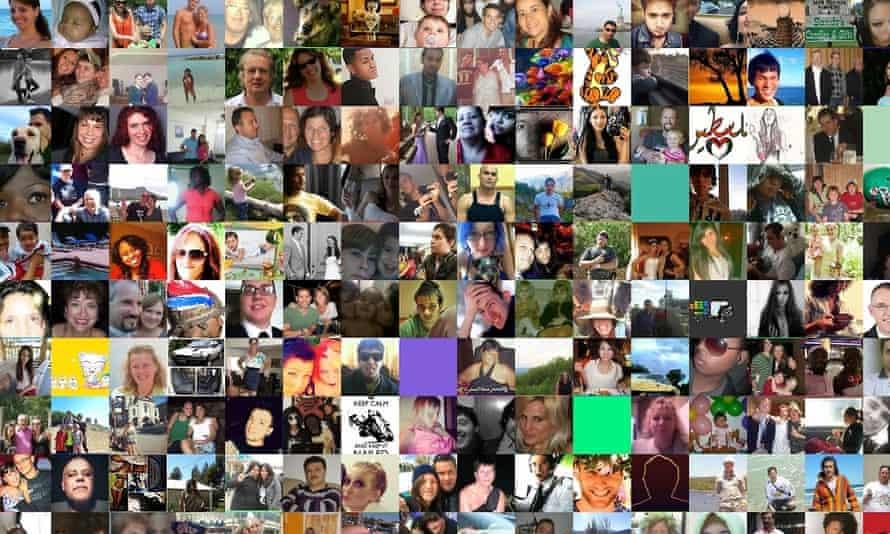 A screenshot of Faces of Facebook