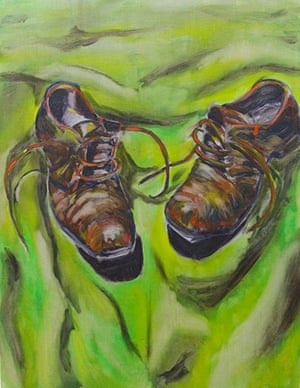 Share your art everyday: Green shoes