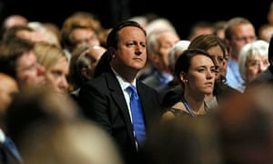 David Cameron at Conservative party conference