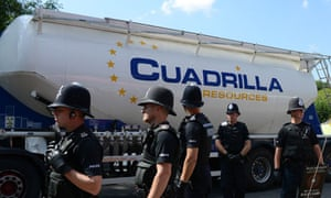 Anti-fracking protest at Cuadrilla fracking site in Balcombe, Sussex
