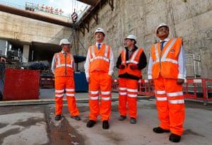 Hi-vis Osborne: George Osborne visits Crossrail construction site