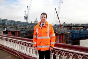 Hi-vis Osborne: George Osborne visits Thameslink construction site