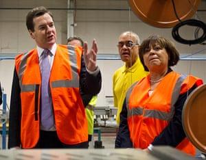 Hi-vis Osborne: George Osborne Visits Eastleigh