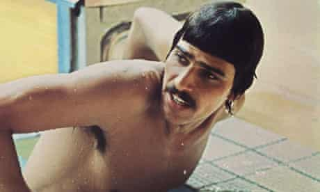 American swimmer Mark Spitz gets out of the pool at the 1972 Munich Olympics