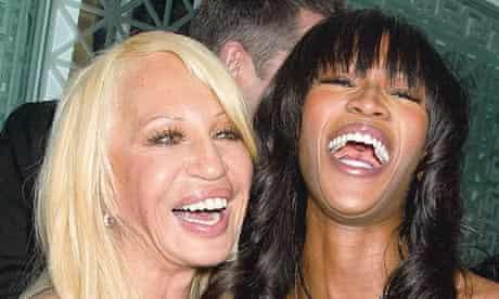 Donatella Versace and Naomi Campbell