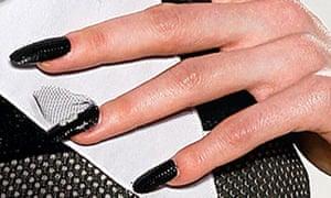 Black nail varnish
