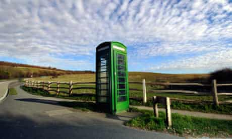 countryside and telephone box