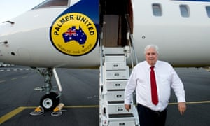 Clive Palmer and his Global Express aircraft