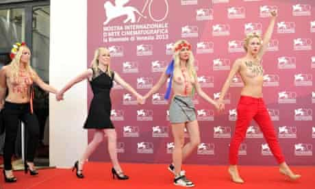 Director Kitty Green and Inna Shevchenko