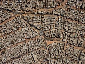 Pieter Hugo - Kin: Aerial view of Diepsloot, 2013