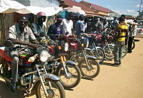 Boda boda drivers in Juba, South Sudan