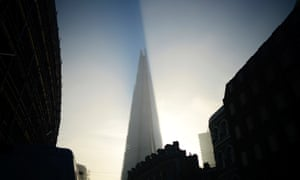 It was a misty morning in London today but the sun finally broke through and hit the Shard as the fog cleared.