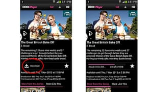 BBC iPlayer Android video downloads