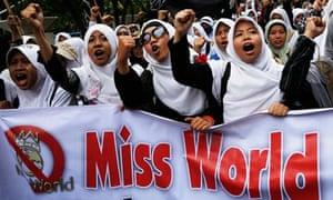 Miss World protest in Jakarta