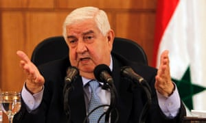 Syria's foreign minister Walid Moualem.