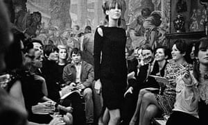 David Bailey and his then wife Catherine Deneuve at a show in December 1965
