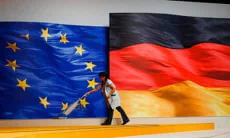 German and EU flags