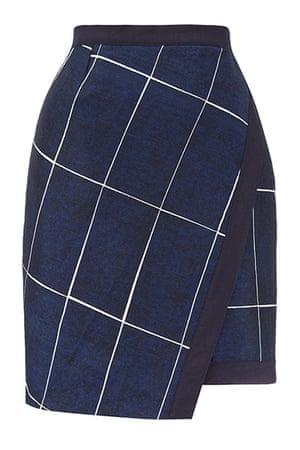 best skirts: navy grid print skirt