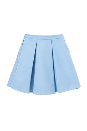 best skirts: pale blue mini skirt