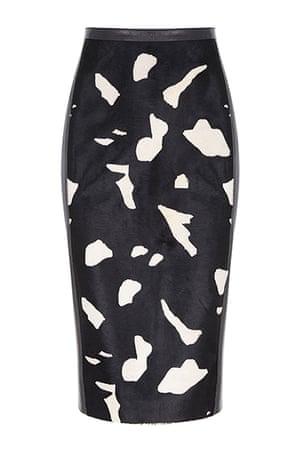 best skirts: cow print pencil skirt