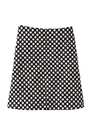 best skirts: spotted skirt black white