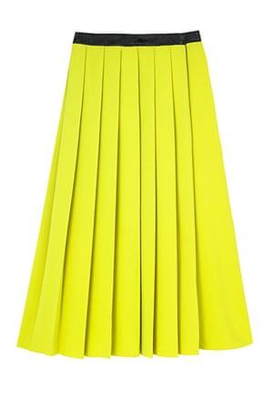 best skirts: yellow pleated skirt