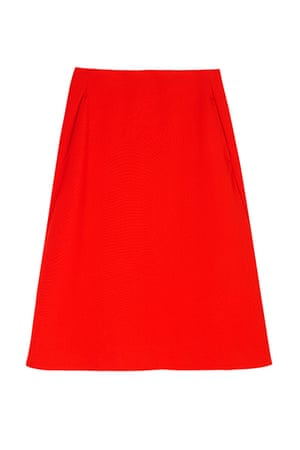 best skirts: red a line skirt