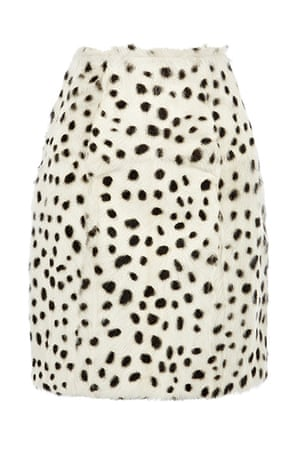 best skirts: spotted faux fur skirt