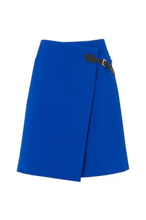 best skirts: blue wrap skirt