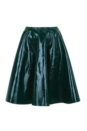 best skirts: green plastic full skirt